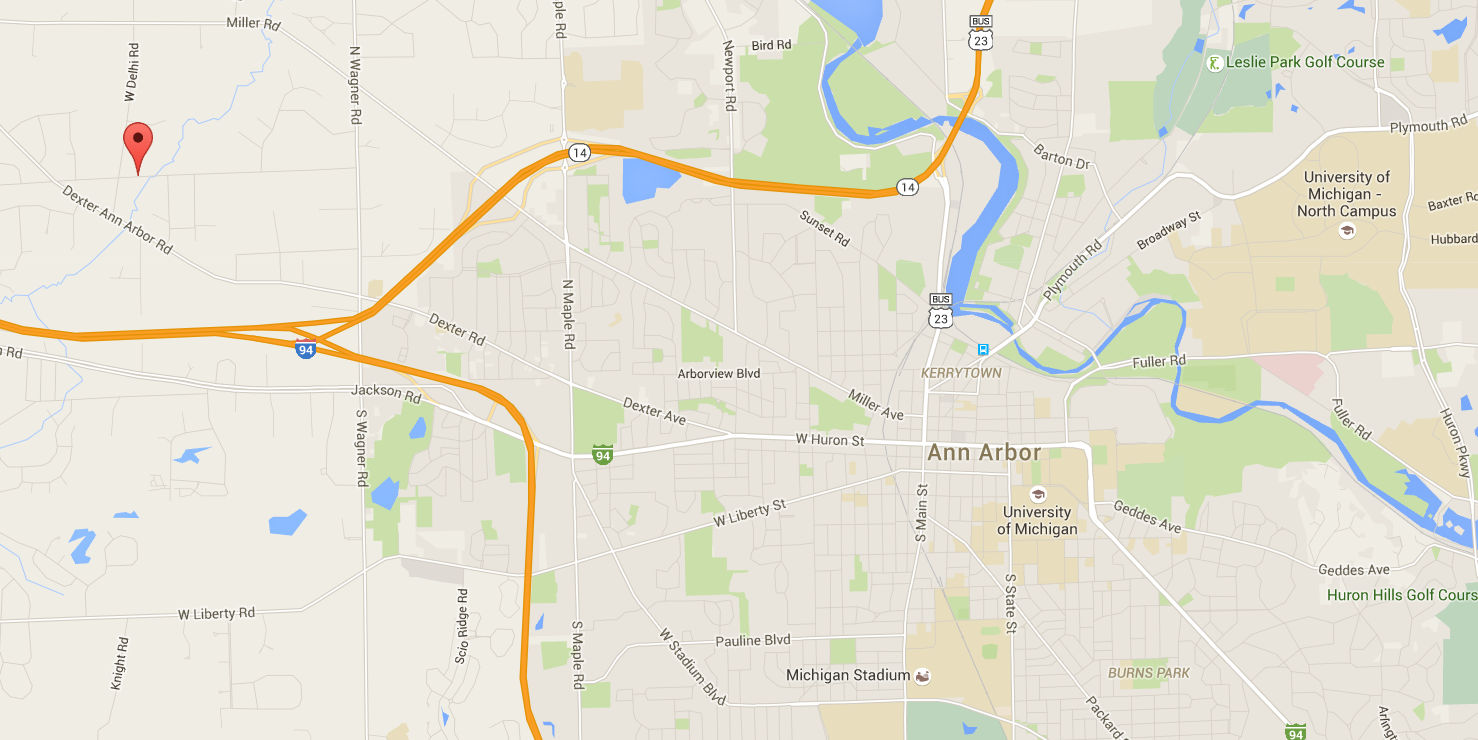 Map in Relation to Ann Arbor
