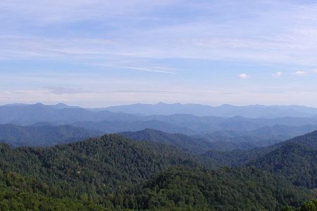 the beautiful blue ridge mountains