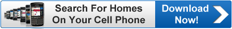 """Search Erie Homes"" mobile app banner to download"