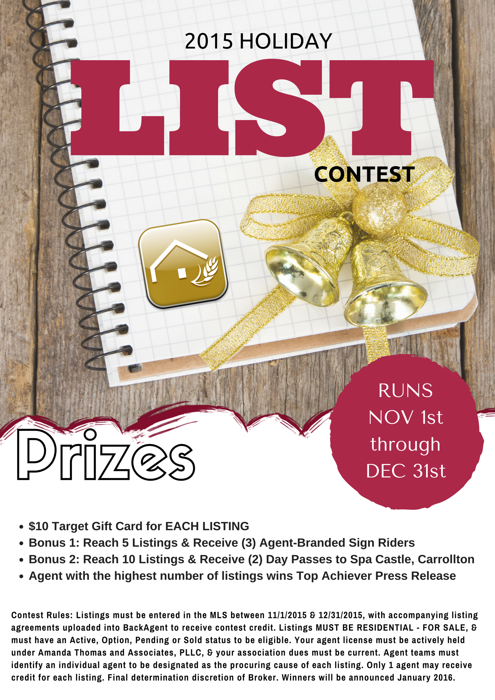 2015 Holiday List Contest for licensees sponsored by Amanda Thomas and ...
