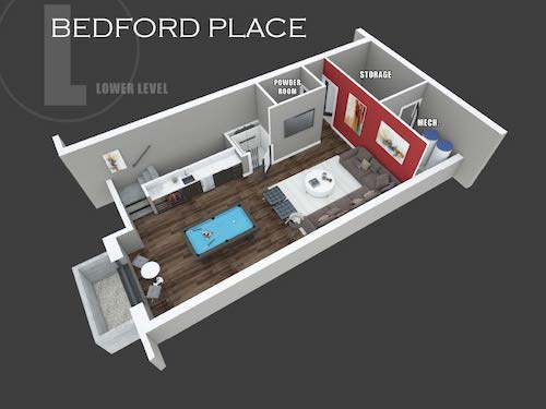 Bedford Place lower level layout