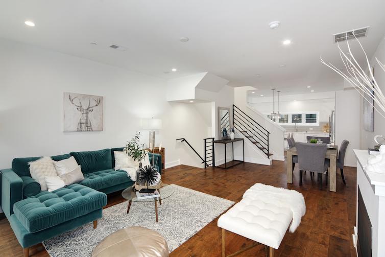 Regent Row living room and open concept