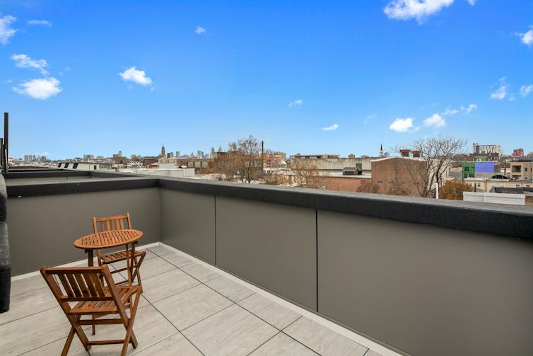 Regent Row rooftop view of city